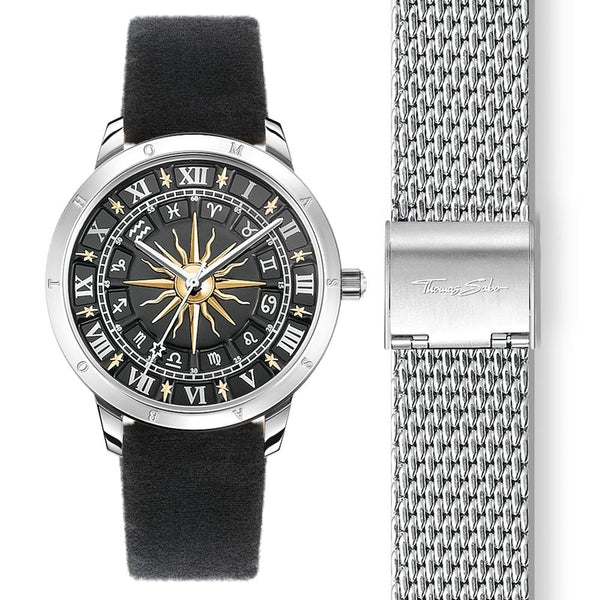 Women's Watch Sun, Two-tone Incl. Milanaise Bracelet