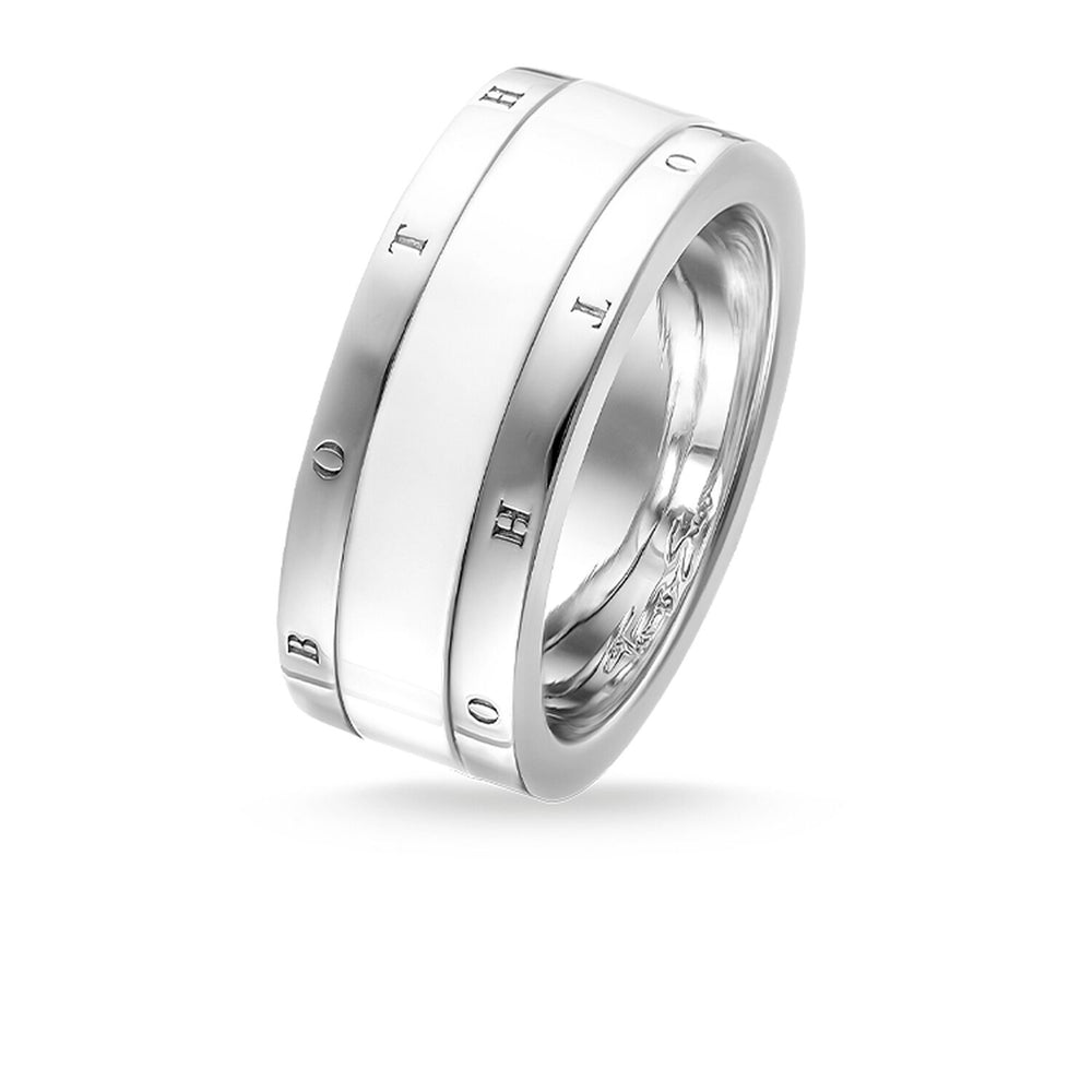 "Band Ring ""White Ceramic"""