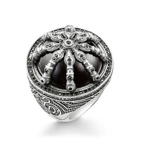 "Cocktail Ring ""Black Karma Wheel"""