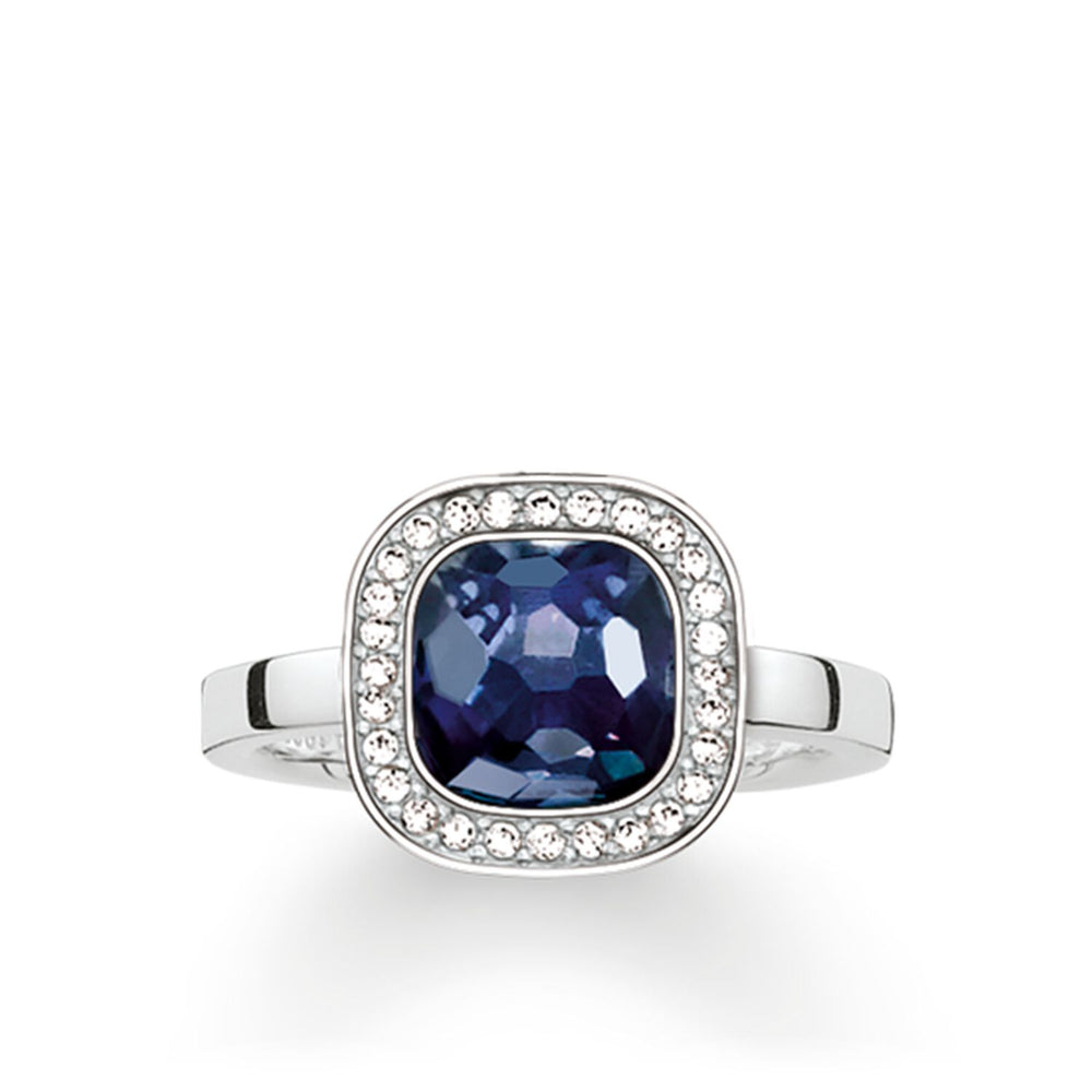 "Solitaire Ring ""Dark Blue Cosmo"""