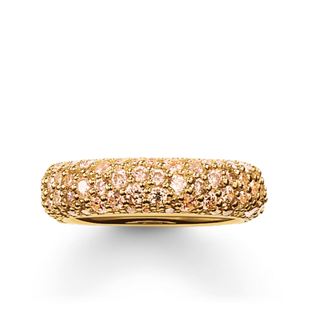 "Band Ring ""Crushed Pavé"""