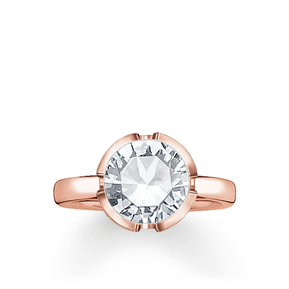 "Solitaire Ring ""Signature Line White Large"" - THOMAS SABO Malaysia"