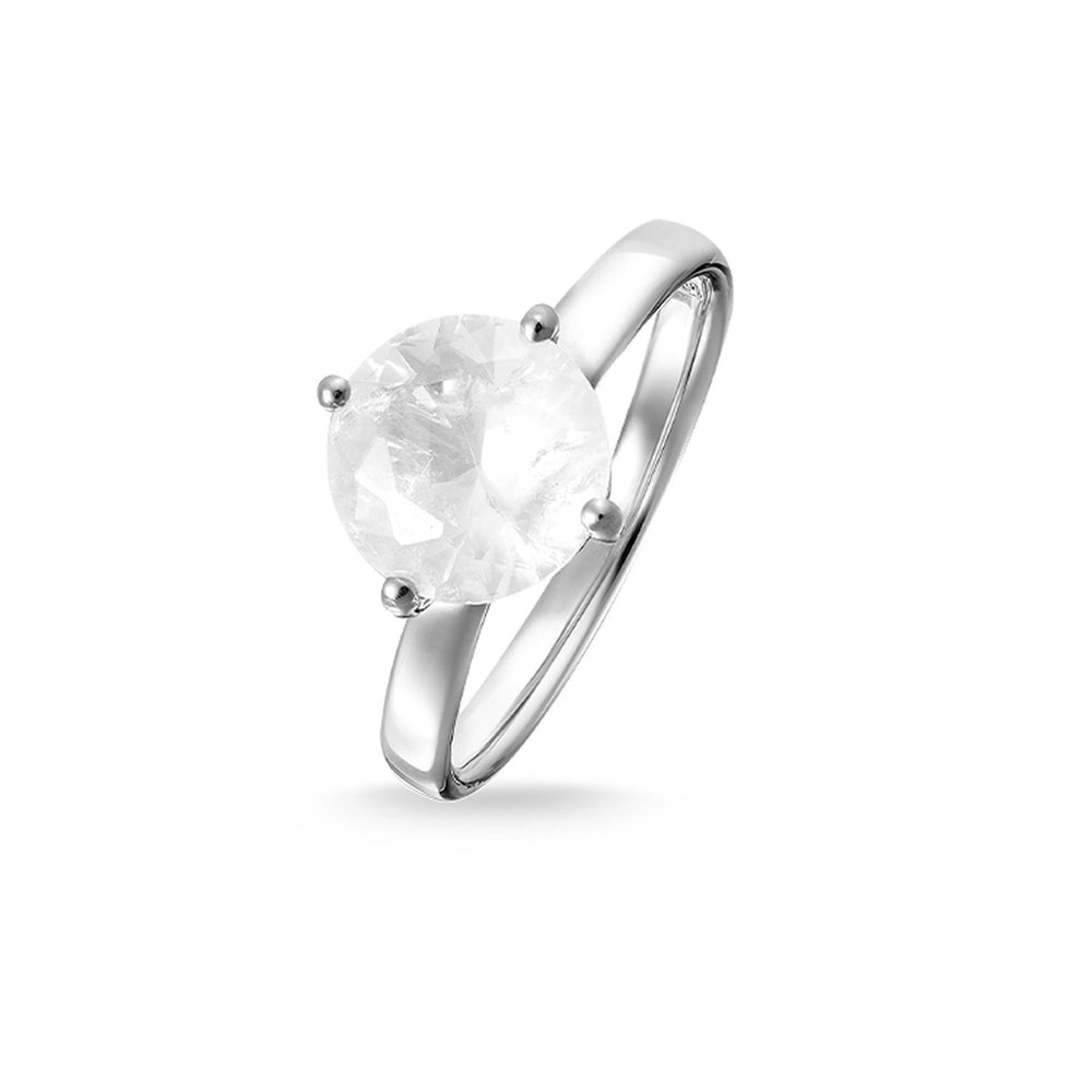 "Solitaire Ring ""Light Of Luna White"" - THOMAS SABO Malaysia"