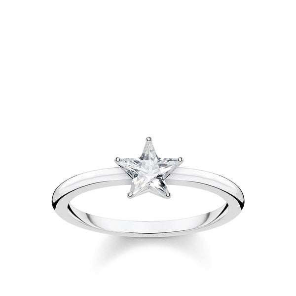 Ring Sparkling Star, Silver