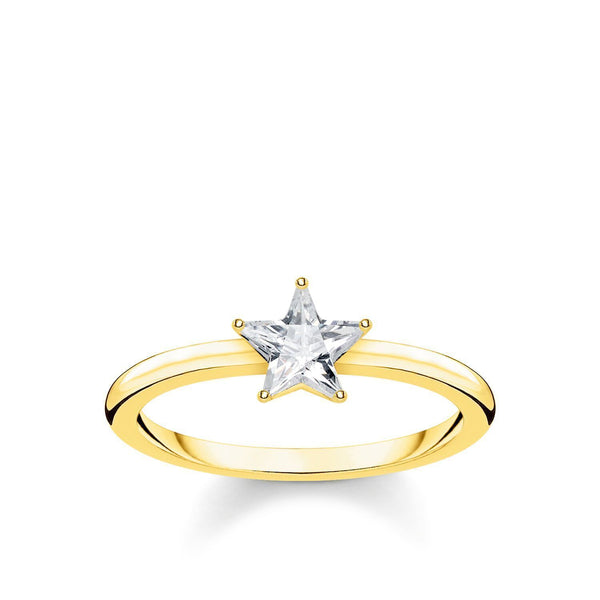 Ring Sparkling Star, Gold