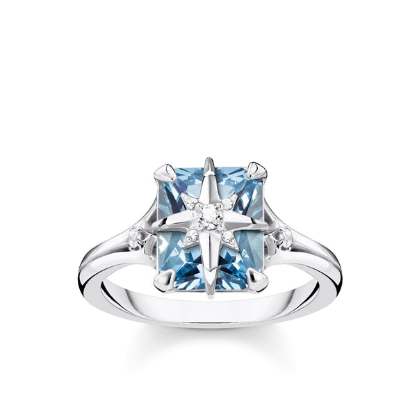 Ring Blue Stone With Star