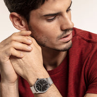 "Watch Unisex ""Code TS Silver Black"""