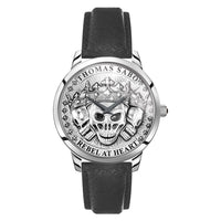 Men's Watch Rebel Spirit 3D Skulls, Silver