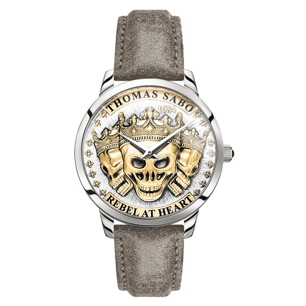 Men's Watch Rebel Spirit 3D Skulls, Gold