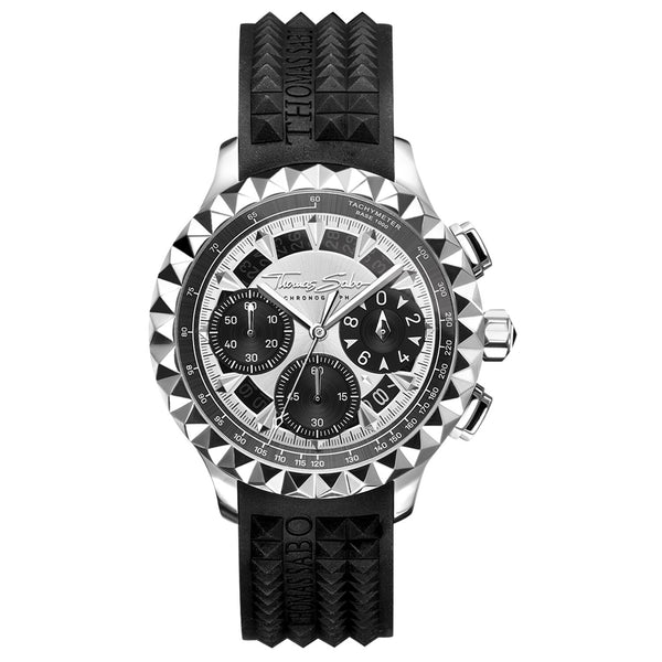 Men's Watch Rebel At Heart Chronograph Silver Black