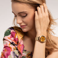 Women's Watch Garden Spirit Tiger's Eye Gold