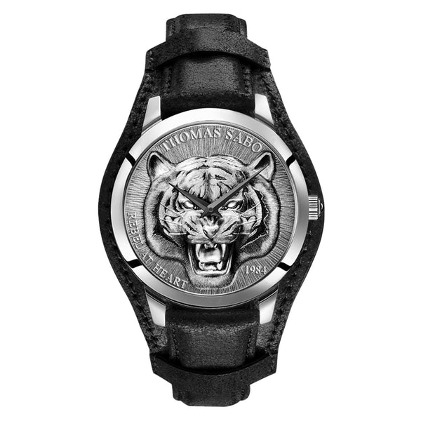 Men's Watch Rebel Tiger 3D Black-silver