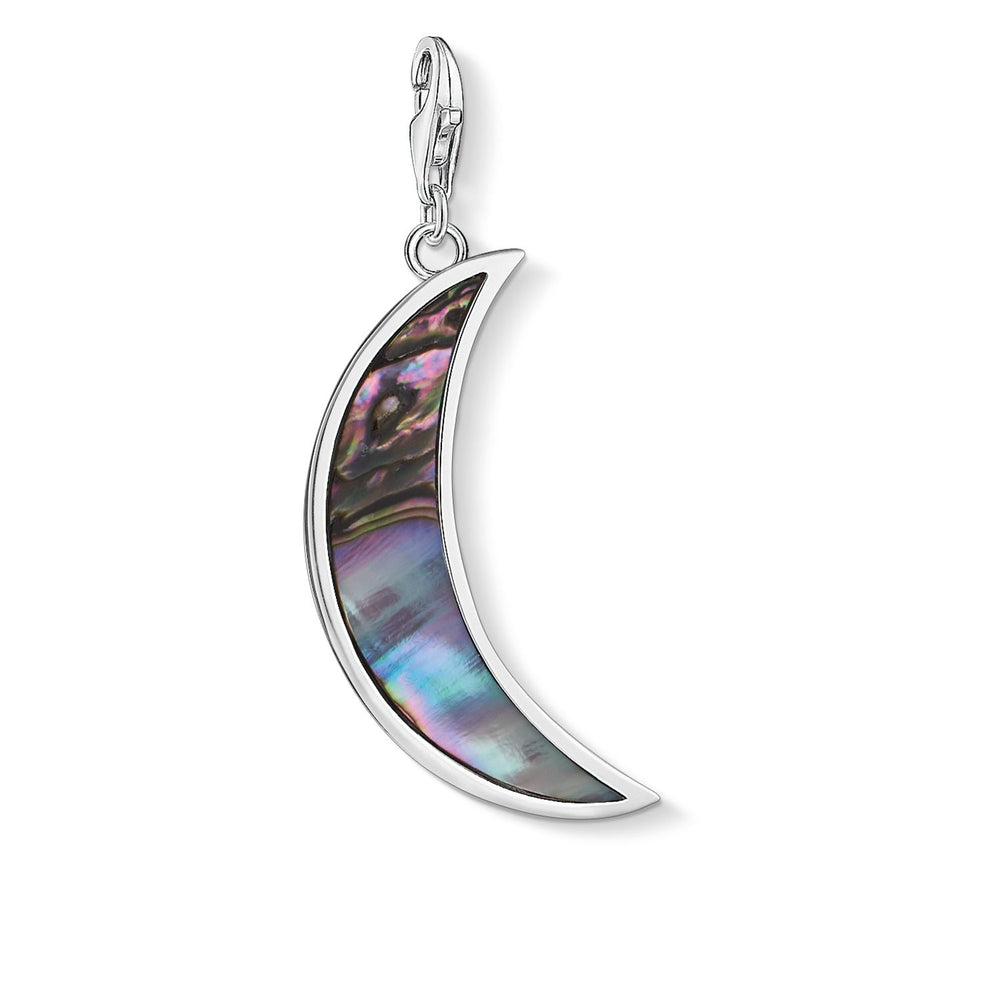 "Charm Pendant ""Moon Abalone Mother-of-pearl Turquoise"""