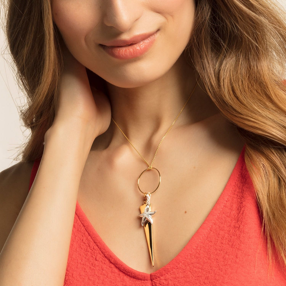 "Charm Pendant ""Triangle Gold"""