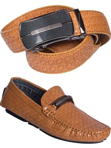 0287 Brown Loafers + Cinturón