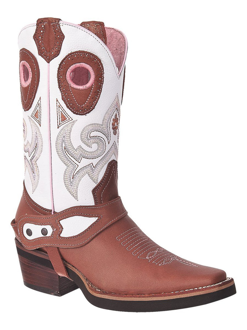 1417 Blanco Bota Rodeo para Dama Joe Boots