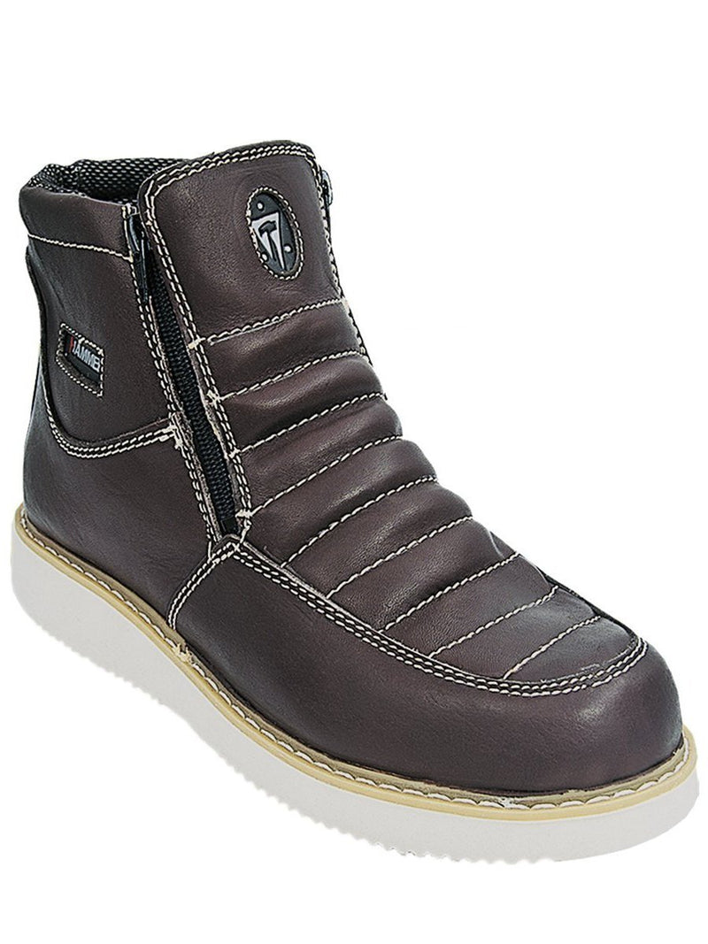 HM330 Cafe Hammer Short Boots Zipper
