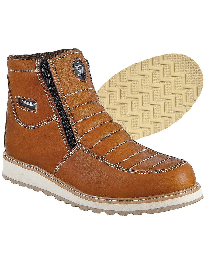 HM339 Habana Hammer Short Boots Zipper, Double Density
