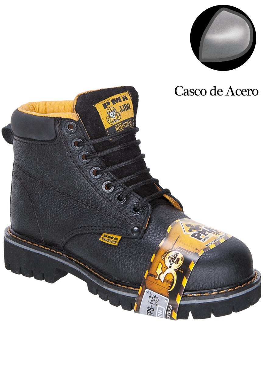 PMA036S Negro Work Boot Heavy Duty Steel Toe