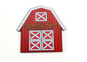 Summer Camp Red Barn Hat Pin