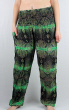 -Green- Peacock Paisley Unisex Pants