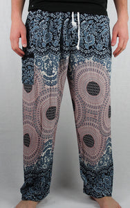 -Frost- Geometric Spiral Drawstring Unisex Pants