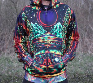 Derek G Art -Eclipse- Zip Up Hoodie
