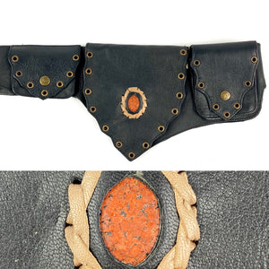 Agate Crystal Belt -black-