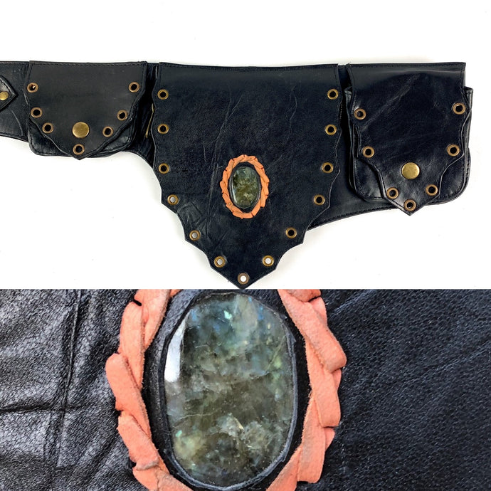 Labradorite Crystal Belt -black-