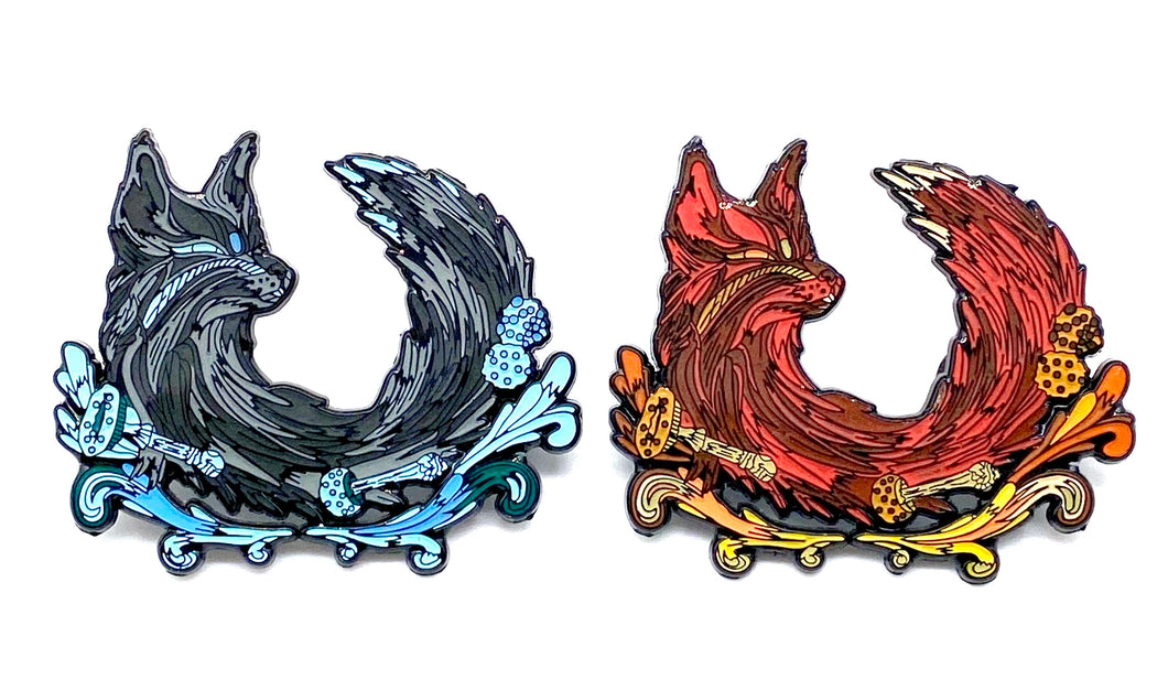 Derek G Art Fox Limited Edition Pins