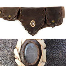 Rose Quartz Crystal Belt -brown-