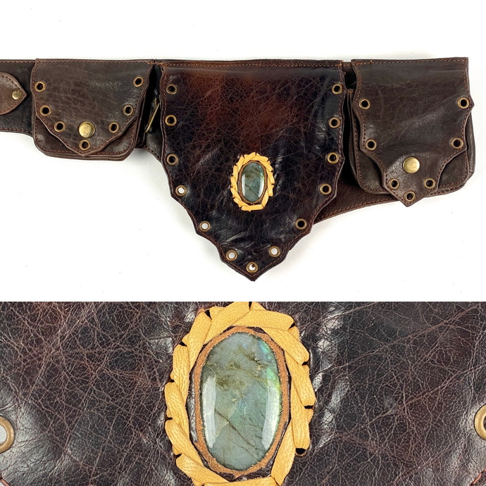 Labradorite Crystal Belt -brown-