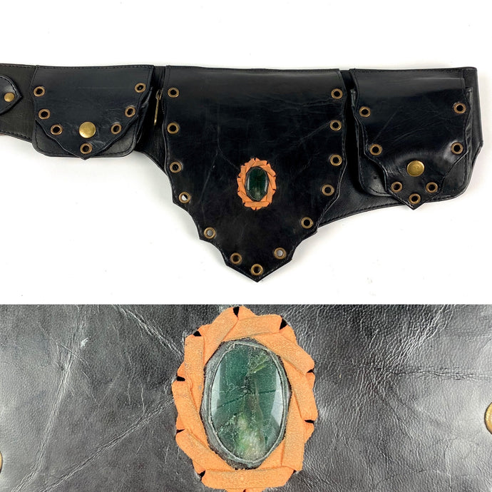 Jade Crystal Belt -black-