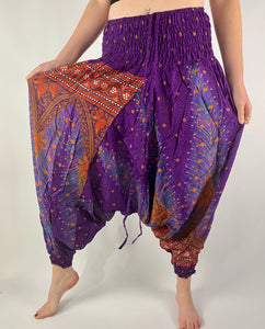 -Purple- Mystic Unisex Harem Pants