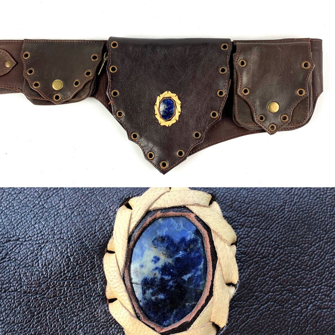 Lapis Crystal Belt -brown-