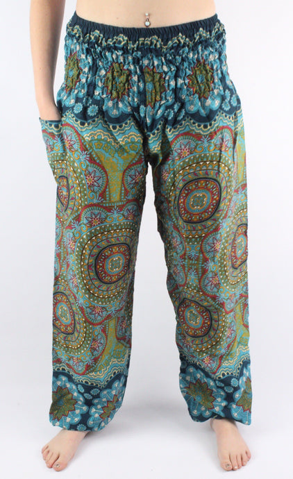 -Green Kaleidoscope- Unisex Pants