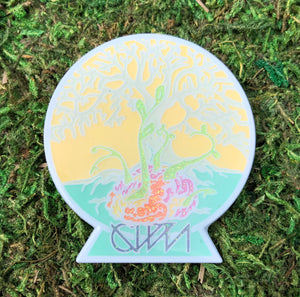 Ganja White Night Tree of Life Pin