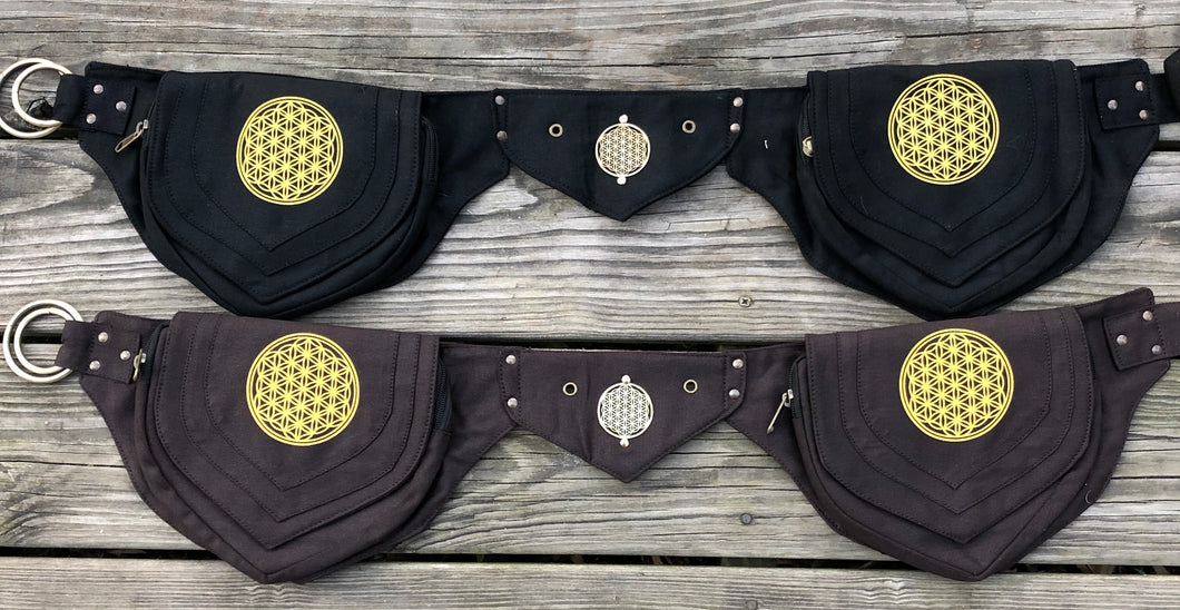 Flower of Life Cotton Utility Belt