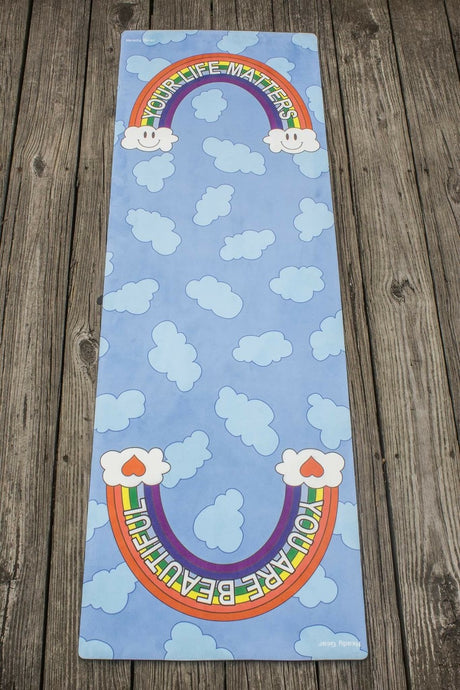 You Are Beautiful/Your Life Matters Eco-Friendly Deluxe Yoga Mat