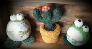Felted Frogs & Cactus