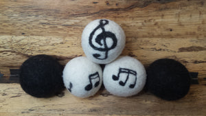 Music Wool Dryer Balls- 5 pack