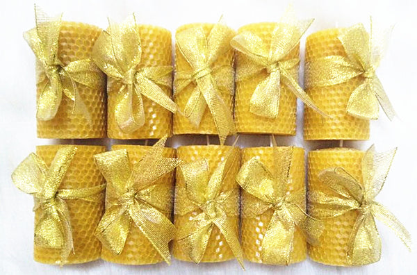 10 Beeswax Candles