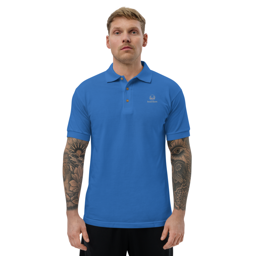 boardom Surf Life Embroidered Polo Shirt