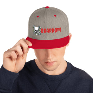 Boardom Flowers are Nice Snapback Hat