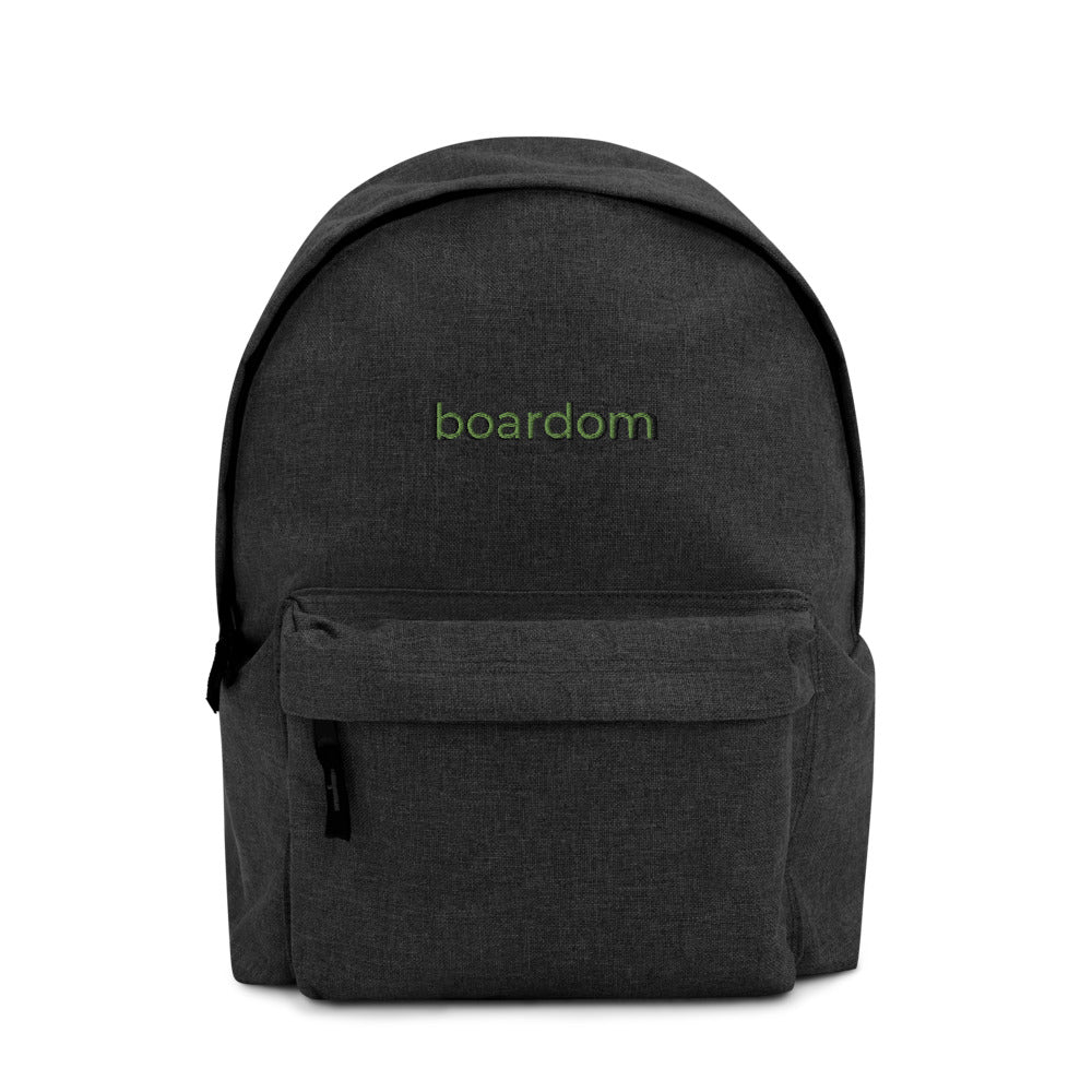 boardom Embroidered Backpack