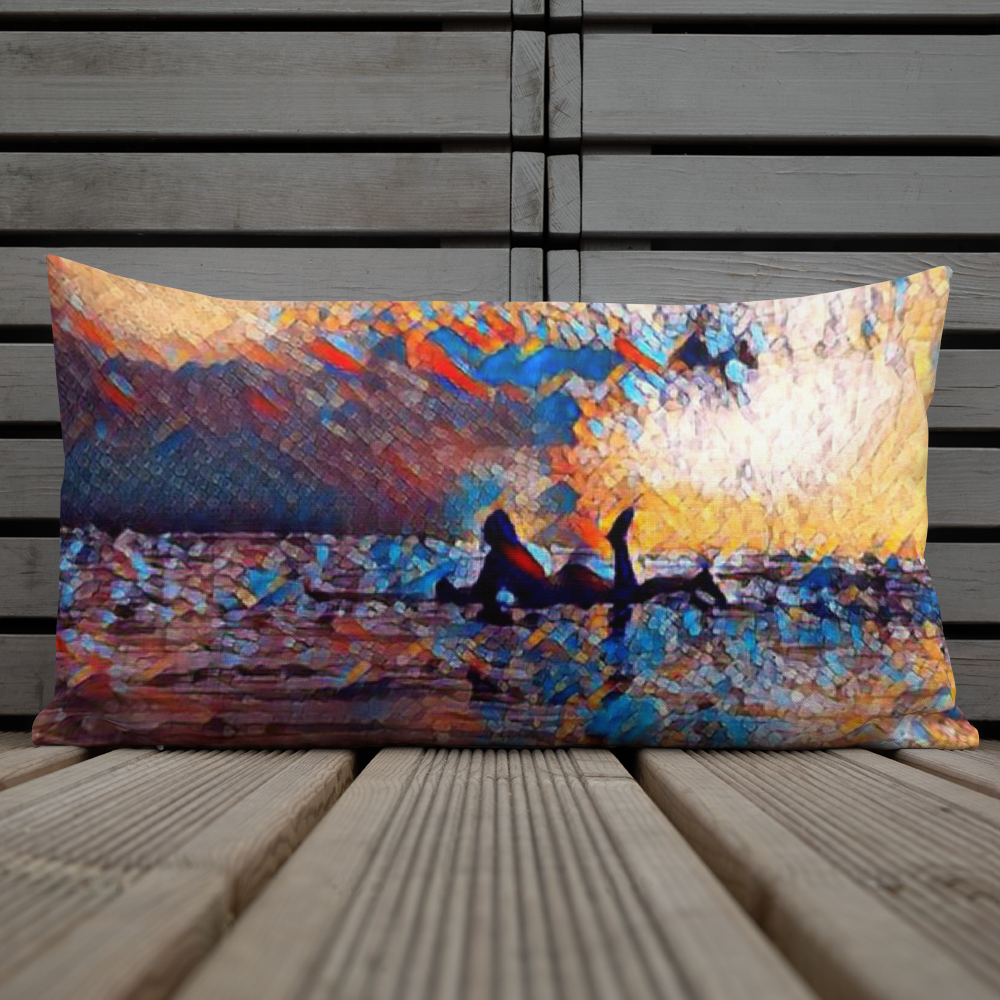 Board Life is Art Premium Pillow