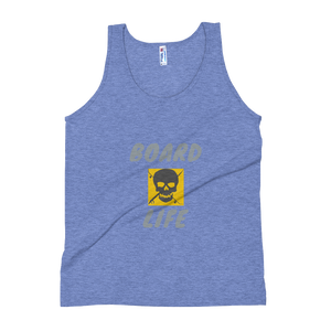 Board Life gold Unisex Soft Tri-Blend Tank
