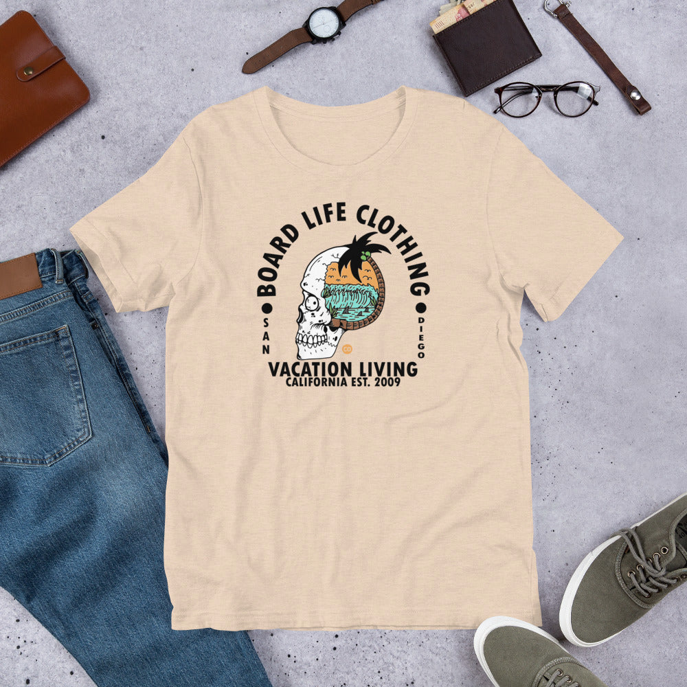 Board Life Vacation Living (lighter colors) Short-Sleeve Unisex T-Shirt