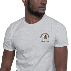 Board Life Vacation Living Embroidered Short-Sleeve Unisex T-Shirt
