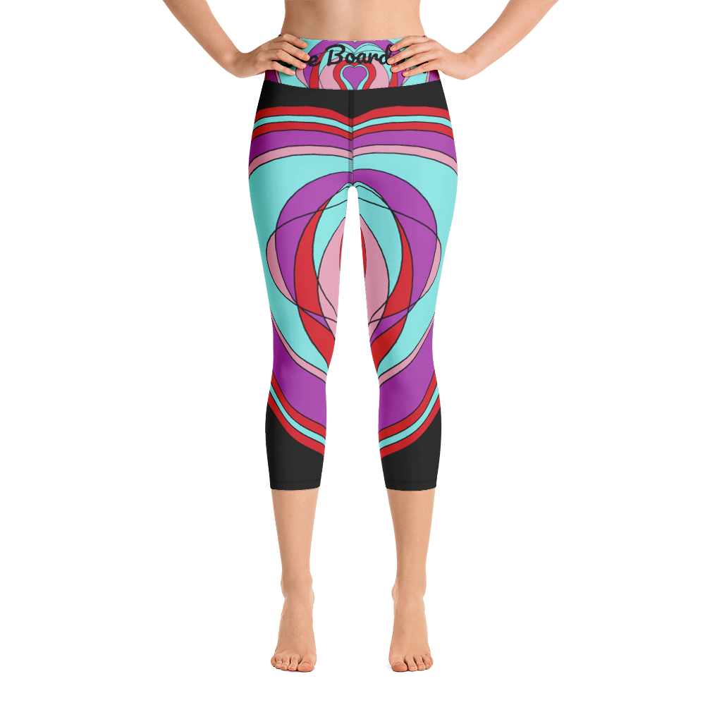Love Board Life Yoga Capri Leggings